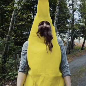 Hobo Steve's Hair Wig, Beard Wig & Banana Suit